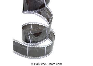 vecchio, negativo, striscia cinematografica