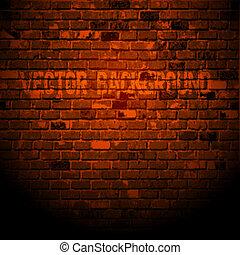vecchio, parete, mattone
