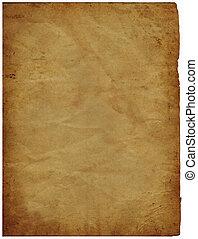 vecchio, pergamena, carta