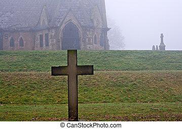 vecchio, pietre tombali, cimitero, indietro, 1856, datazione
