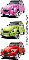 vecchio, poco, automobile, set