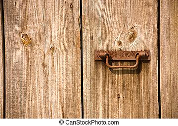 vecchio, porta, granaio