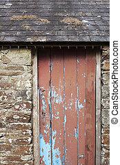 vecchio, porta, red/brown, granaio
