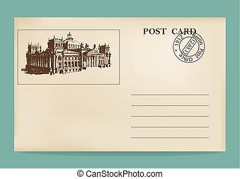 vecchio, postcard..eps