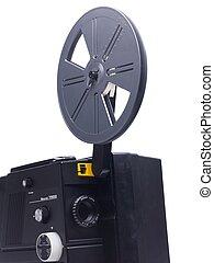 vecchio, proiettore, film