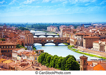 vecchio, río arno, ponte