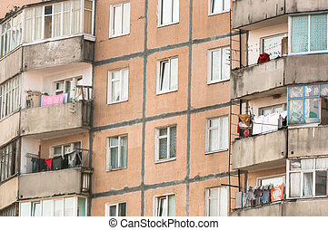 vecchio, residenziale, costruzione domestica