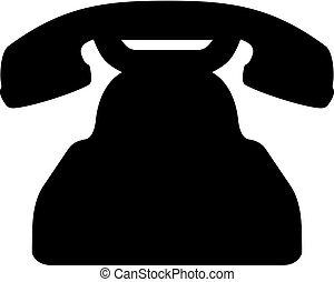 vecchio, retro, telefono
