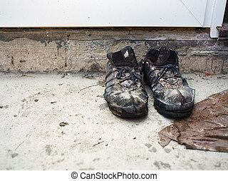 vecchio, scarpe