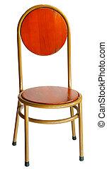 vecchio, sedia, isolato, legno, bianco