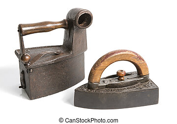 vecchio, spianatura, ferro