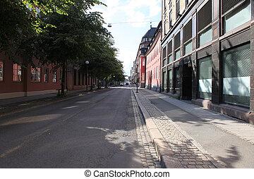 vecchio, strada, norvegia, oslo