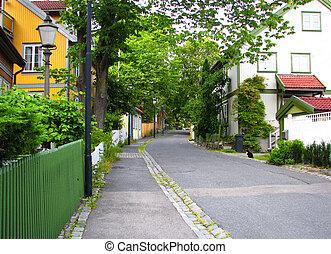 vecchio, strada, -, oslo, norvegia