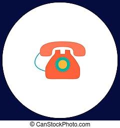 vecchio telefono, computer, simbolo