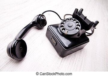 vecchio, telefono quadrante rotante