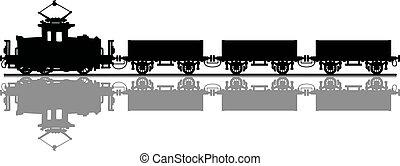 vecchio, treno elettrico