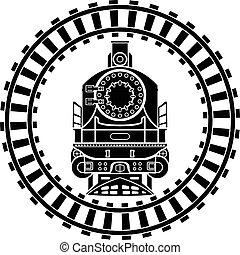 vecchio, vapore, locomotiva