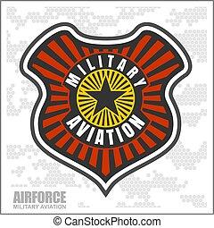 vechter, airforce, -, militair, luchtvaart, smaldeel