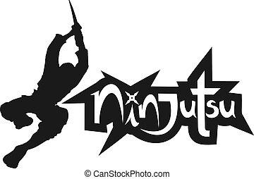 vechter, kunst, ninjutsu