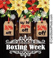 vecka, boxning, etikett