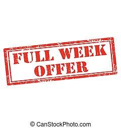 vecka, fyllda, erbjudande