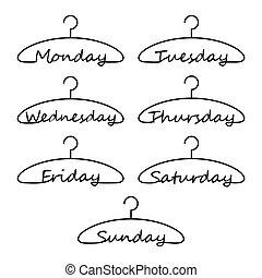 vecka, hängare, dagar