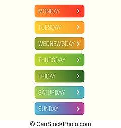 vecka, knapp, dagar