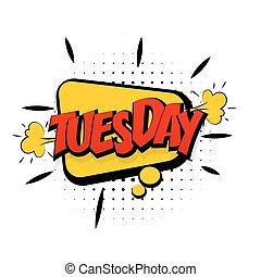 vecka, konst, tisdag, gul, start, pop, komiker, effekter