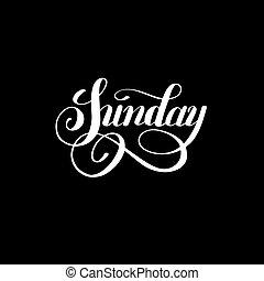 vecka, söndag, bläck, vit, kalligrafi, dag, letteri, handskrivet