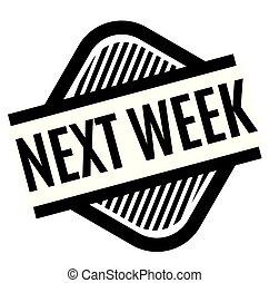 vecka, stämpel, vit, nästa