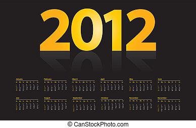 vecka, startar, söndag, 2012, kalender