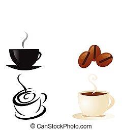 vecor, caffè, fumo, tazza