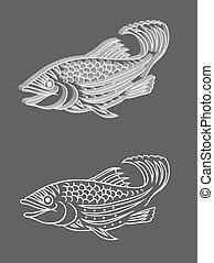 vecor, fish, soulagement