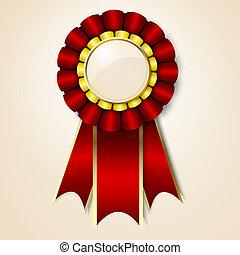 vecor, premio, cinta, rojo