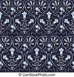 Vecotr seamless pattern with classic ornament