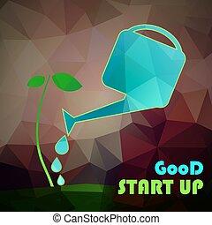 vecror, concept., -, の上, 始めなさい, 投資