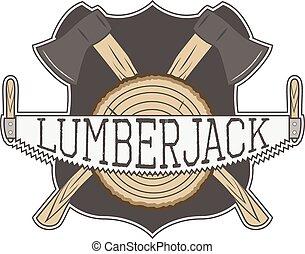 vecror, lumberjack, ラベル