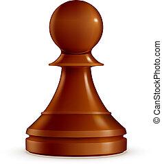 vecteur, échecs, pion