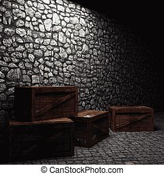 mur pierre bo tes clair pierre fait clair mur. Black Bedroom Furniture Sets. Home Design Ideas