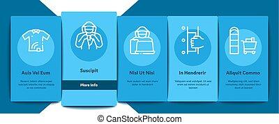 vecteur, éléments, ensemble, icônes, vol étalage, onboarding