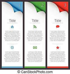 vecteur, éléments, premier, description, troisième, icônes, titre, seconde, infographic