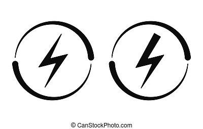 vecteur, électrique, signs., icône