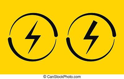 vecteur, électrique, signs., illustration