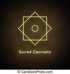 vecteur, équilibre, symbole., sacré, geometry.