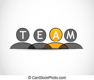 vecteur, équipe