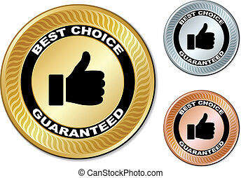 vecteur, étiquettes, guaranteed, mieux, choix