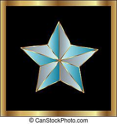 vecteur, étoile, étiquette