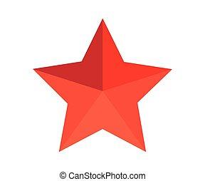 vecteur, étoile, 3d, icône