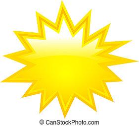 vecteur, étoile, boom, jaune