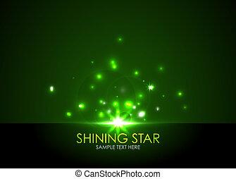vecteur, étoile, briller